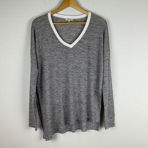 Aritzia Wilfred lightweight grey sweater large